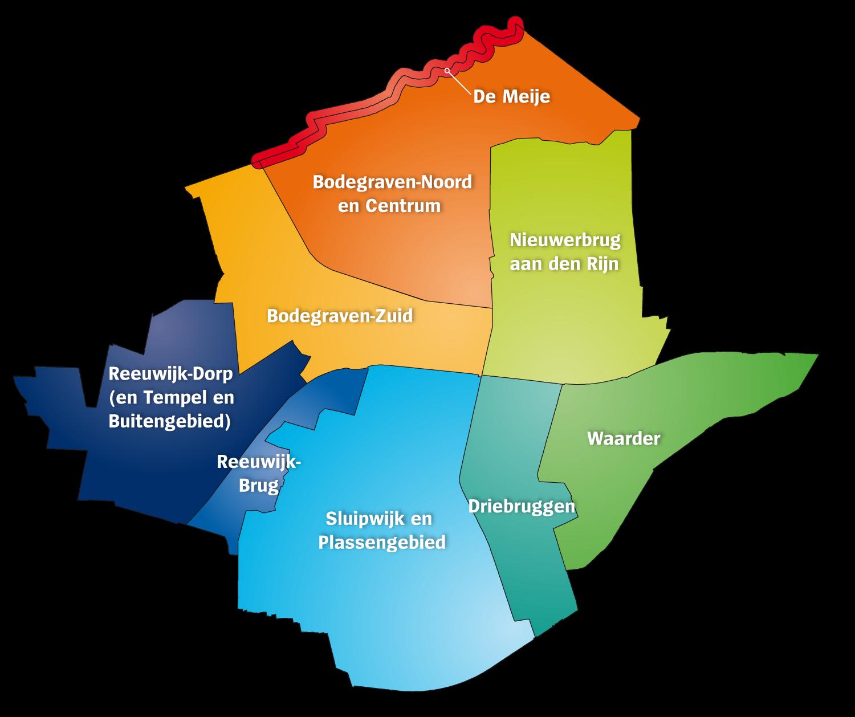 Kaart Bodegraven-Reeuwijk